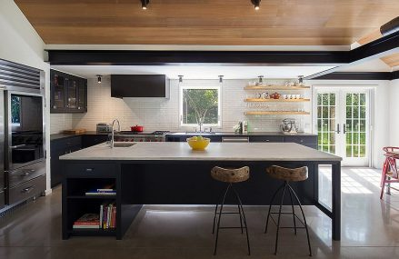 Kitchens with Concrete Floors: A Sustainable and Durable Trend!