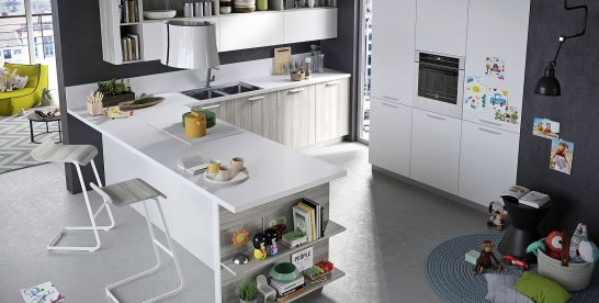 Refined, Reliable and Edgy: FUN Adaptable Kitchen by Snaidero